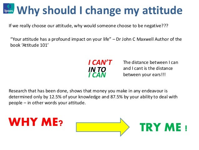 change my negative attitude