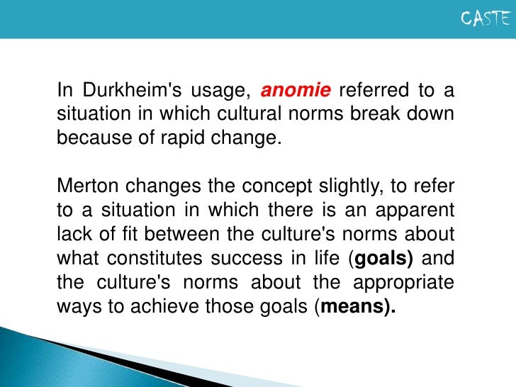 merton anomic theory Moreover, central to this anomic process was the complex nature of the division of labour it is to these ends that we shall focus our attention on robert k merton's strain theory, and other comparable theories of deviant behaviour, in order to critically assess the concept of anomie, as an explanation of.