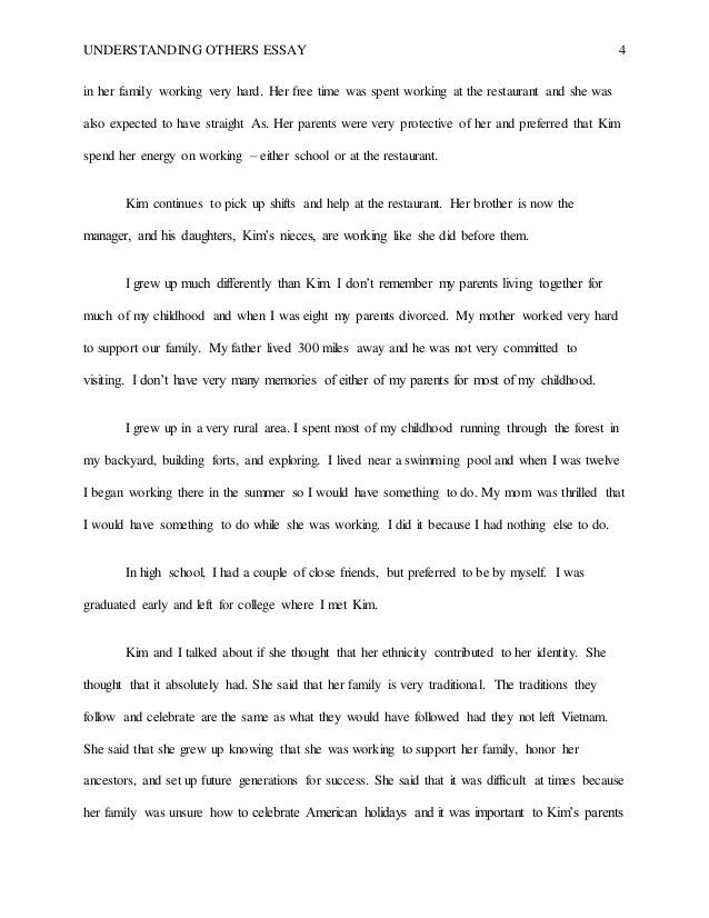 Working with others essay