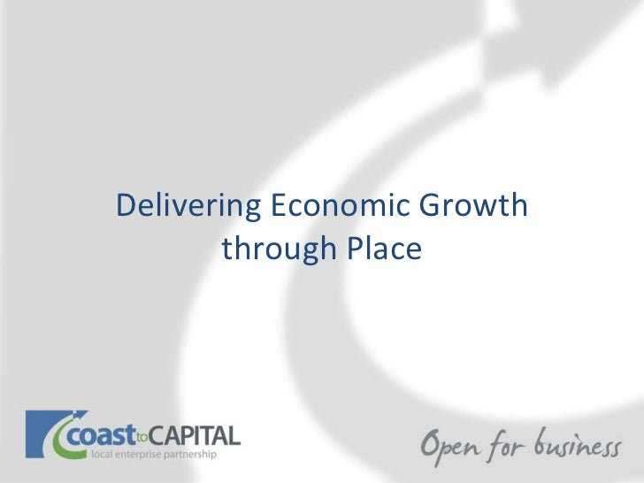 Delivering Economic Growth through Place