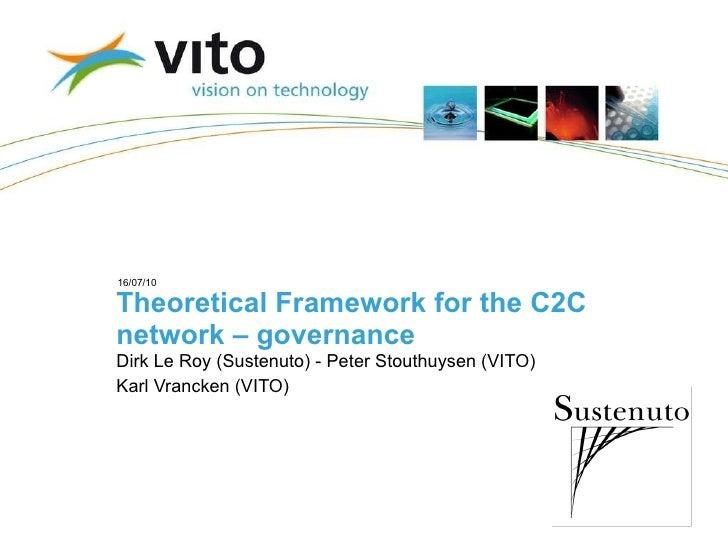 Theoretical Framework for the C2C network – governance Dirk Le Roy (Sustenuto) - Peter Stouthuysen (VITO) Karl Vrancken (V...