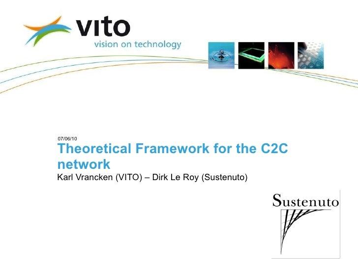 Theoretical Framework for the C2C network Karl Vrancken (VITO) – Dirk Le Roy (Sustenuto)