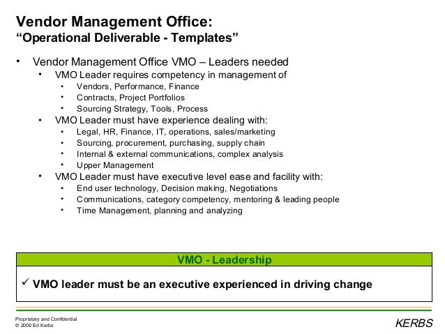 Vendor Management Office VMO