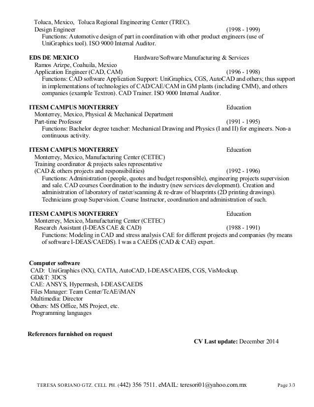 teresa soriano english cv dec 2014 for usa