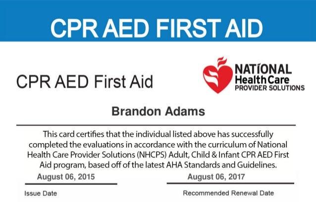 cpr card certification provider slideshare