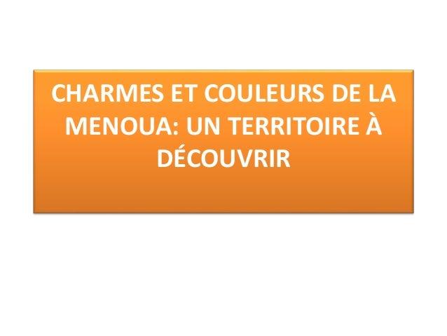 CHARMES ET COULEURS DE LA MENOUA: UN TERRITOIRE À DÉCOUVRIR