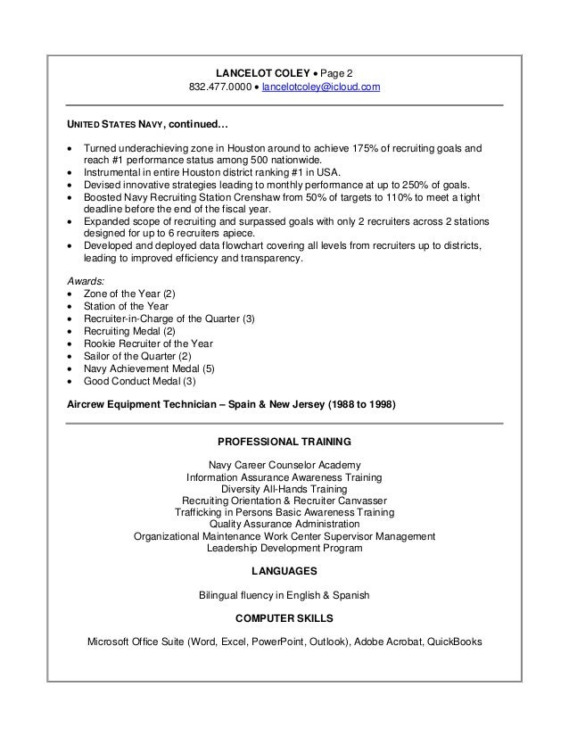 Led App Development Resume