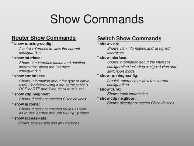 SHOW COMMANDS CISCO ROUTERS EBOOK » Pdf Zone