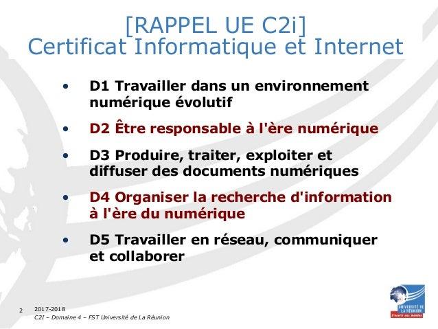 C2I D4 FST TD2 Veille, blogs, recherche d'articles en ligne Slide 2