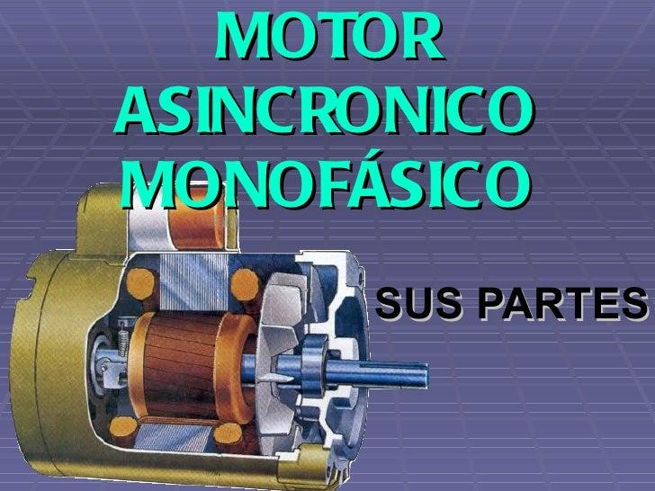 MOTOR ASINCRONICO MONOFÁSICO SUS PARTES
