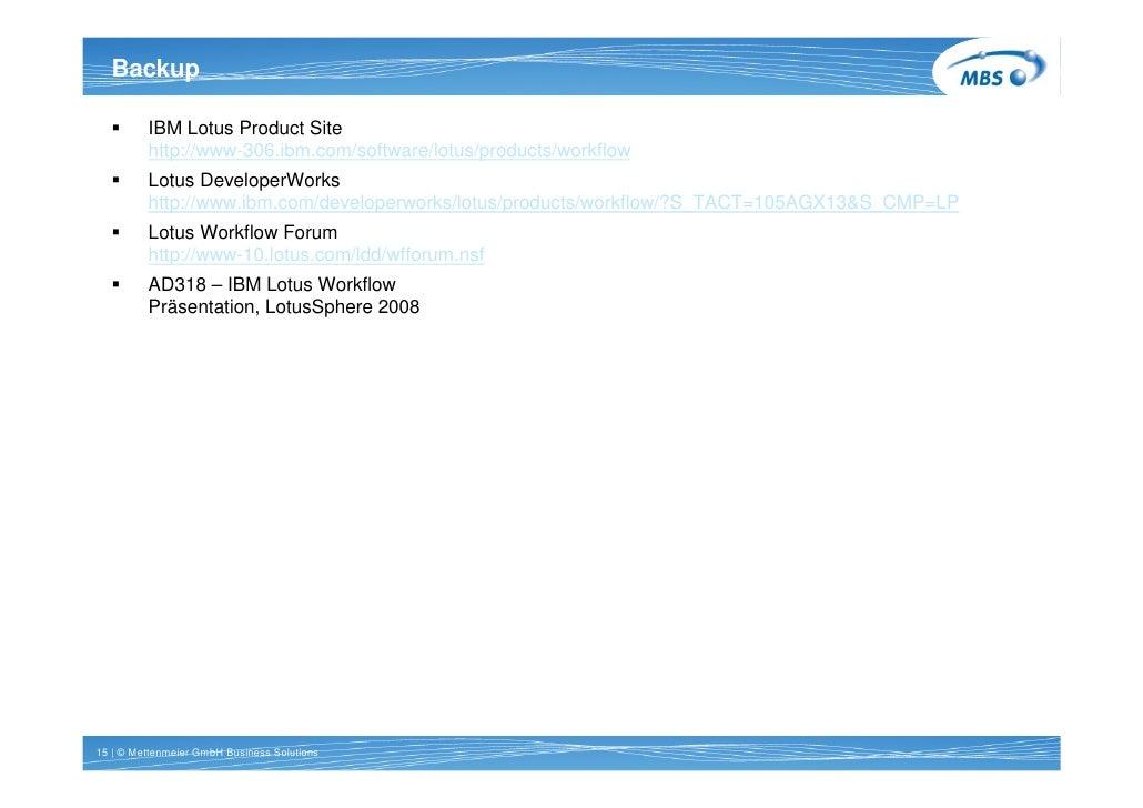Backup   Titel 1 Zeile Arial 20pt bold          IBM Lotus Product Site          http://www-306.ibm.com/software/lotus/prod...