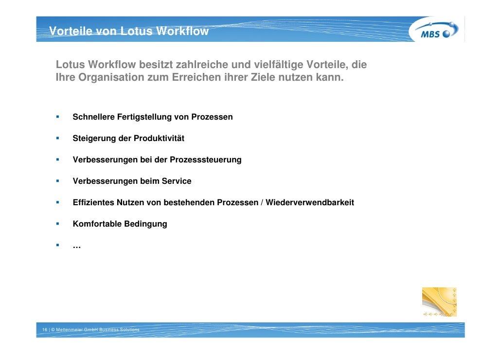 Vorteile von Lotus Workflow   Titel 1 Zeile Arial 20pt bold       Lotus Workflow besitzt zahlreiche und vielfältige Vortei...