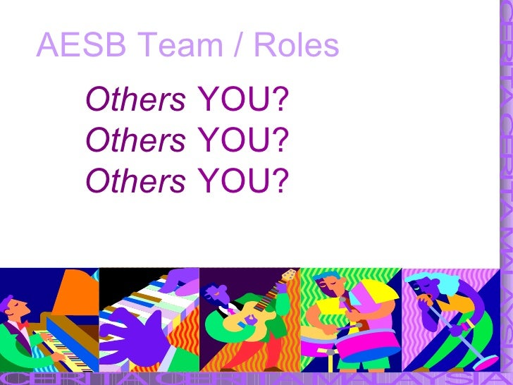 AESB Team / Roles YOU? YOU? YOU? Others Others Others