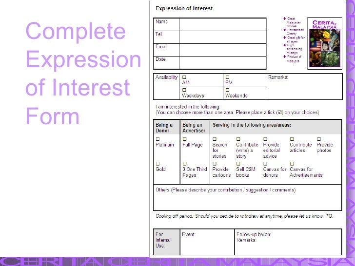 Complete Expression of Interest Form