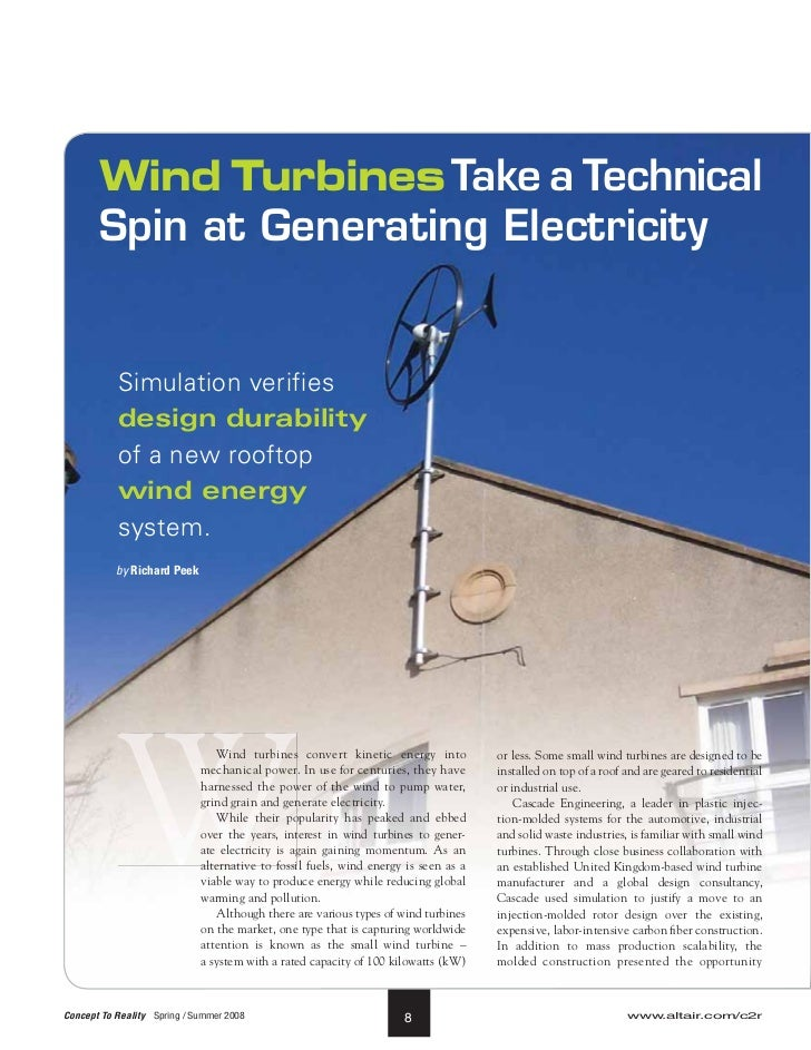 Wind Turbines Take a Technical       Spin at Generating Electricity           Simulation verifies           design durabil...
