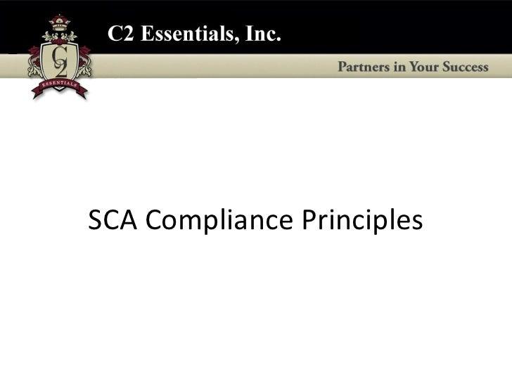SCA Compliance Principles