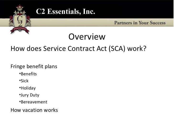 McnamaraOHara Service Contract Act Compliance Overview