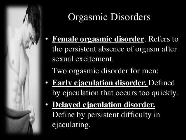 Absent ejaculation orgasm
