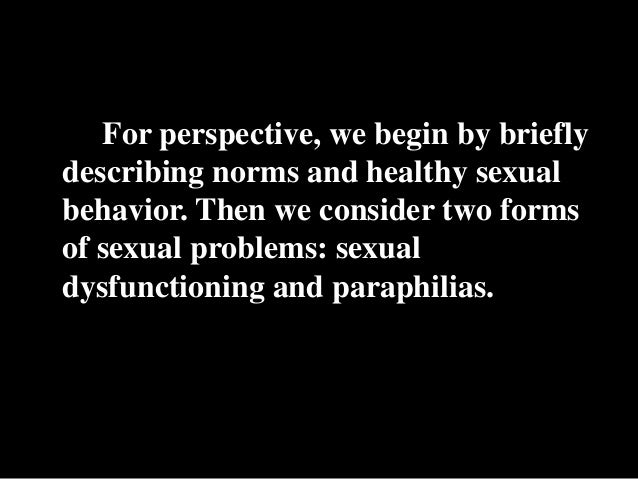 Two sexual disorders