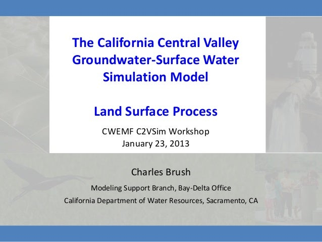The California Central Valley  Groundwater-Surface Water       Simulation Model        Land Surface Process          CWEMF...
