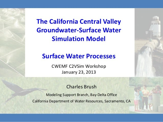 The California Central Valley  Groundwater-Surface Water       Simulation Model     Surface Water Processes          CWEMF...