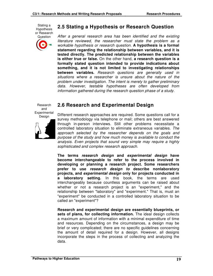 C3 1 Research Methods And Writing Research Proposals
