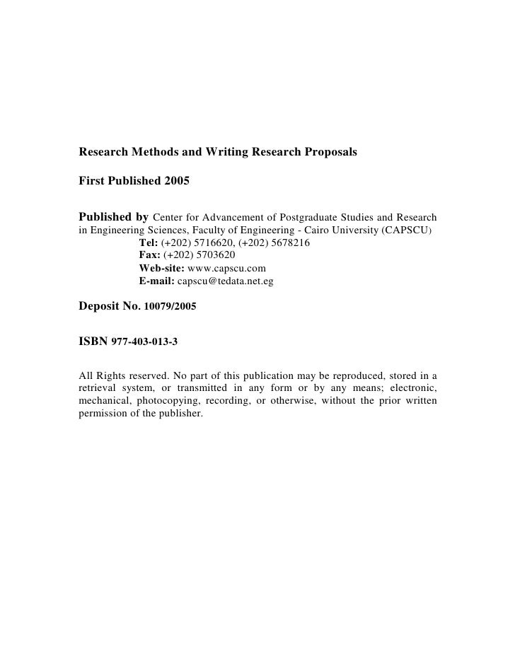 C3 1 Research Methods And Writing Research Proposals – Research Proposals