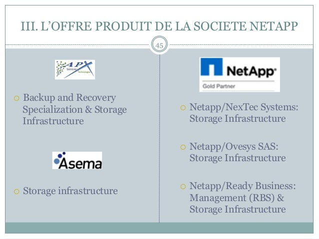 ¡ Backup and Recovery Specialization & Storage Infrastructure ¡ Storage infrastructure ¡ Netapp/NexTec Systems: Stor...
