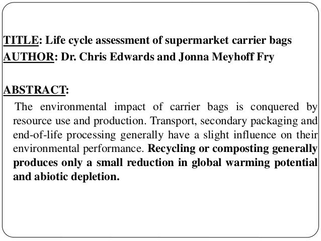 life cycle assessment essay Et4407 life cycle assessment of washing machine student: david mcnamara id number: 12061379.
