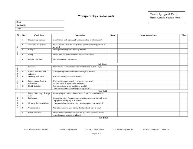 QC 5S audit