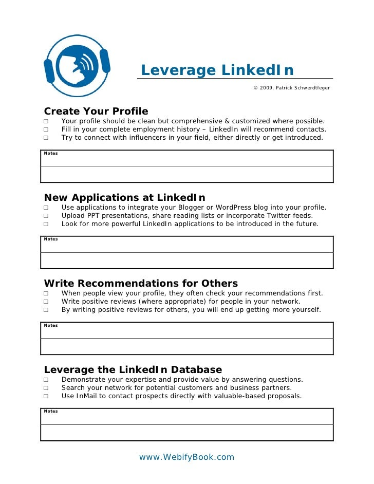 Leverage LinkedIn                                                                   © 2009, Patrick Schwerdtfeger     Crea...