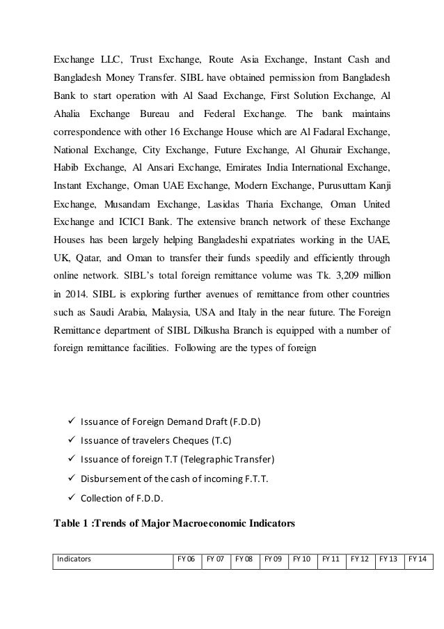 sibl internship report Free essays on internship report on foreign exchange procedure of jamuna bank limited for students use our papers to help you with yours 1 - 30.