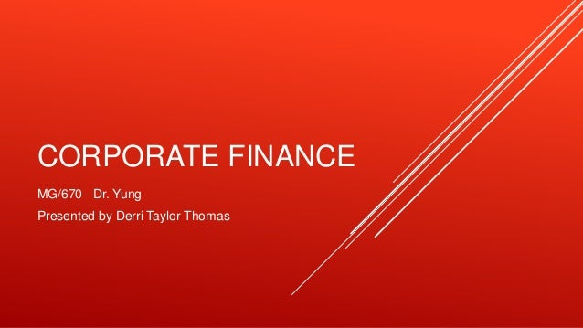 Coporate finance nike