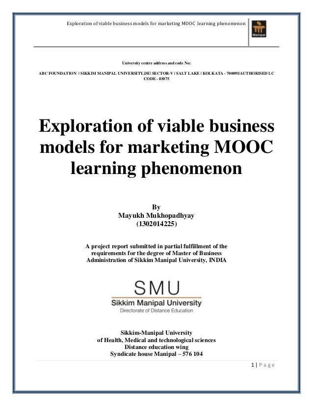 Exploration of viable business models for marketing mooc learning phe exploration of viable business models for marketing mooc learning phenomenon 1 p a g e university centre fandeluxe Images