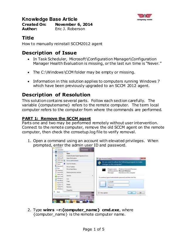 How_To_Manually_Reinstall_SCCM2012_Agent
