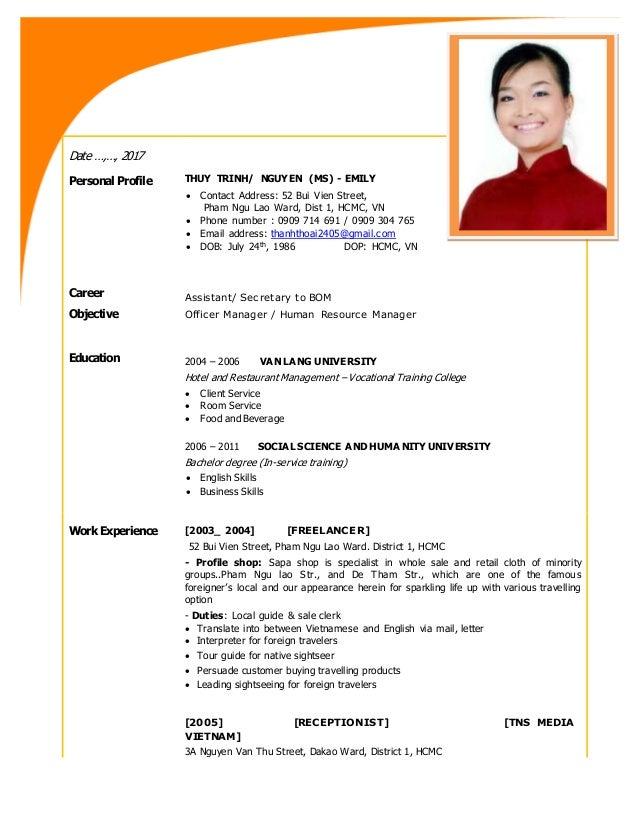nguyen thuy trinh ms profile
