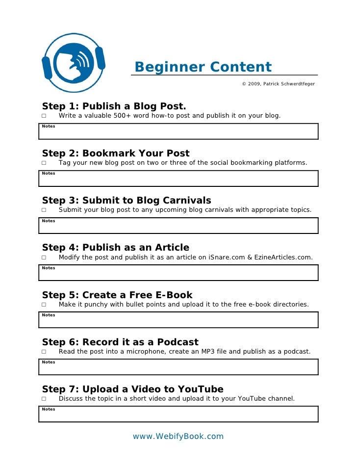 Beginner Content                                                                  © 2009, Patrick Schwerdtfeger     Step 1...