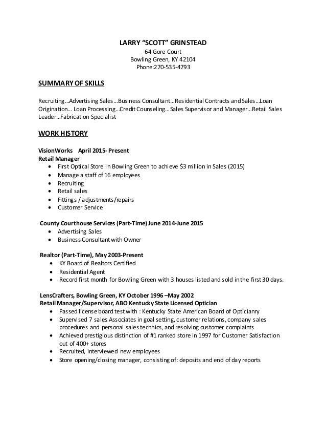 Resume For Scott 2 1