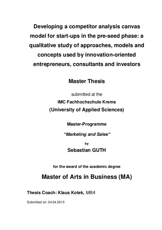 Business today master thesis