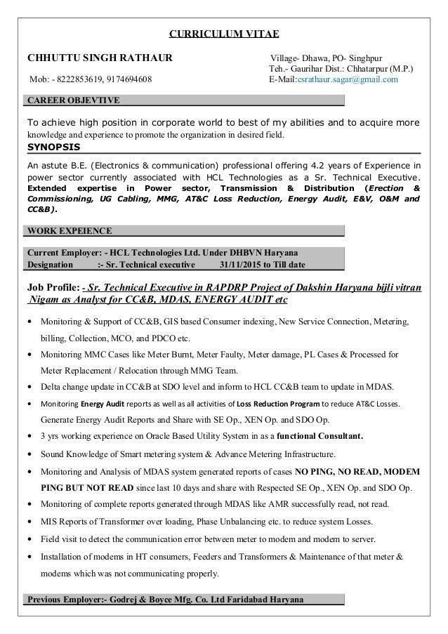 Resume C S Rathaur