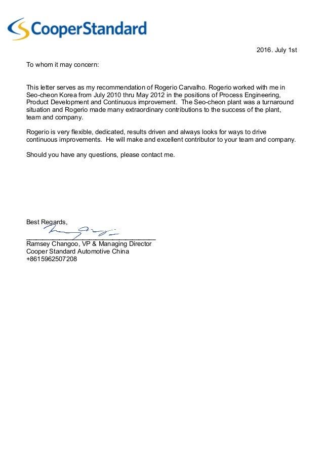 Recommendation Letter 3