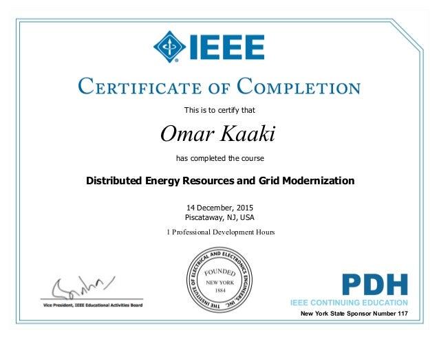 Certificate Of Completion Ieee Der Linkedin