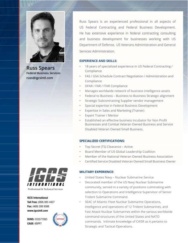IGCS - Russ Spears Bio