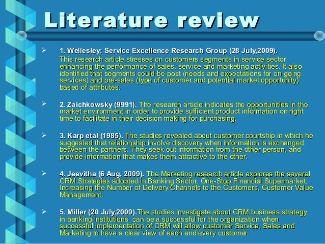 Literature review about customer service