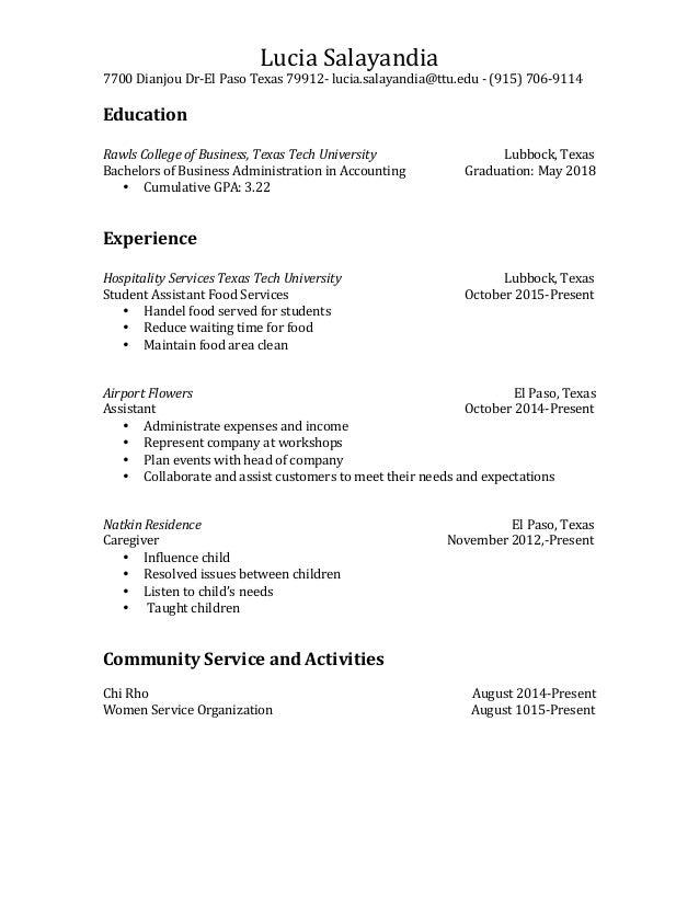 Professional Resume Lucia Salayandia