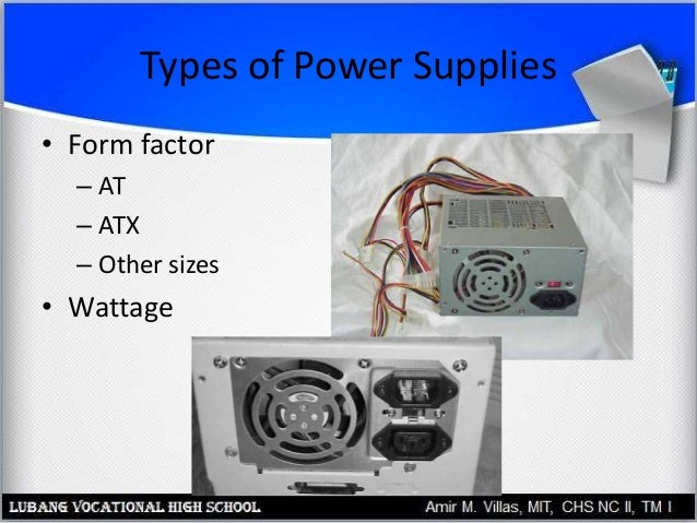 Case, Electricity and Power Supplies