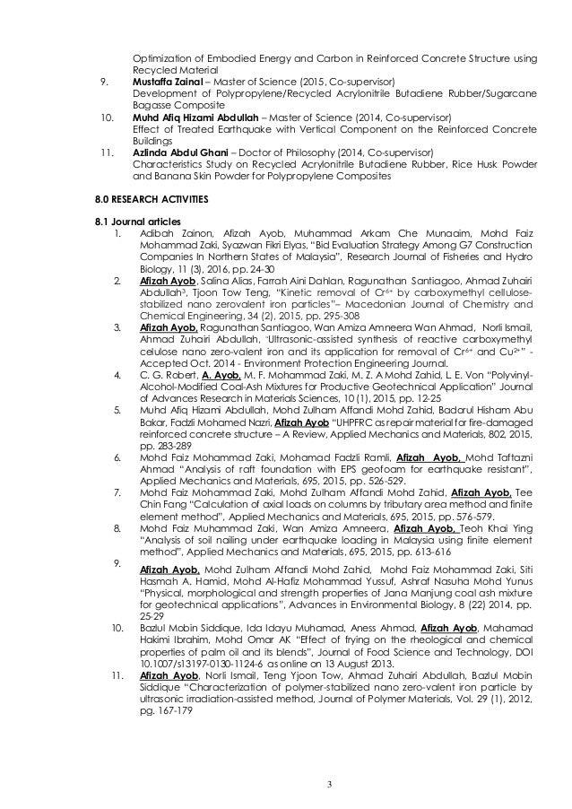 CV Afizah Ayob