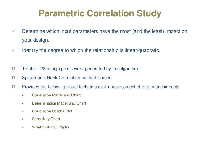 A parametric and equilibrium study on