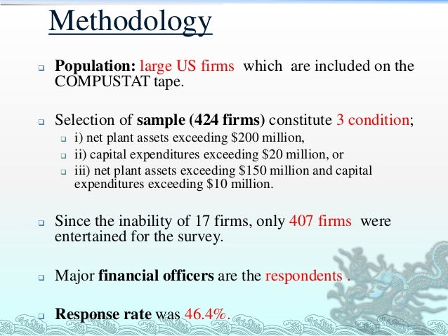 A survey of capital budgeting methods