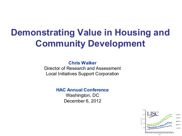 Demonstrating Value in Housing and    Community Development                     Chris Walker       Director of Research an...